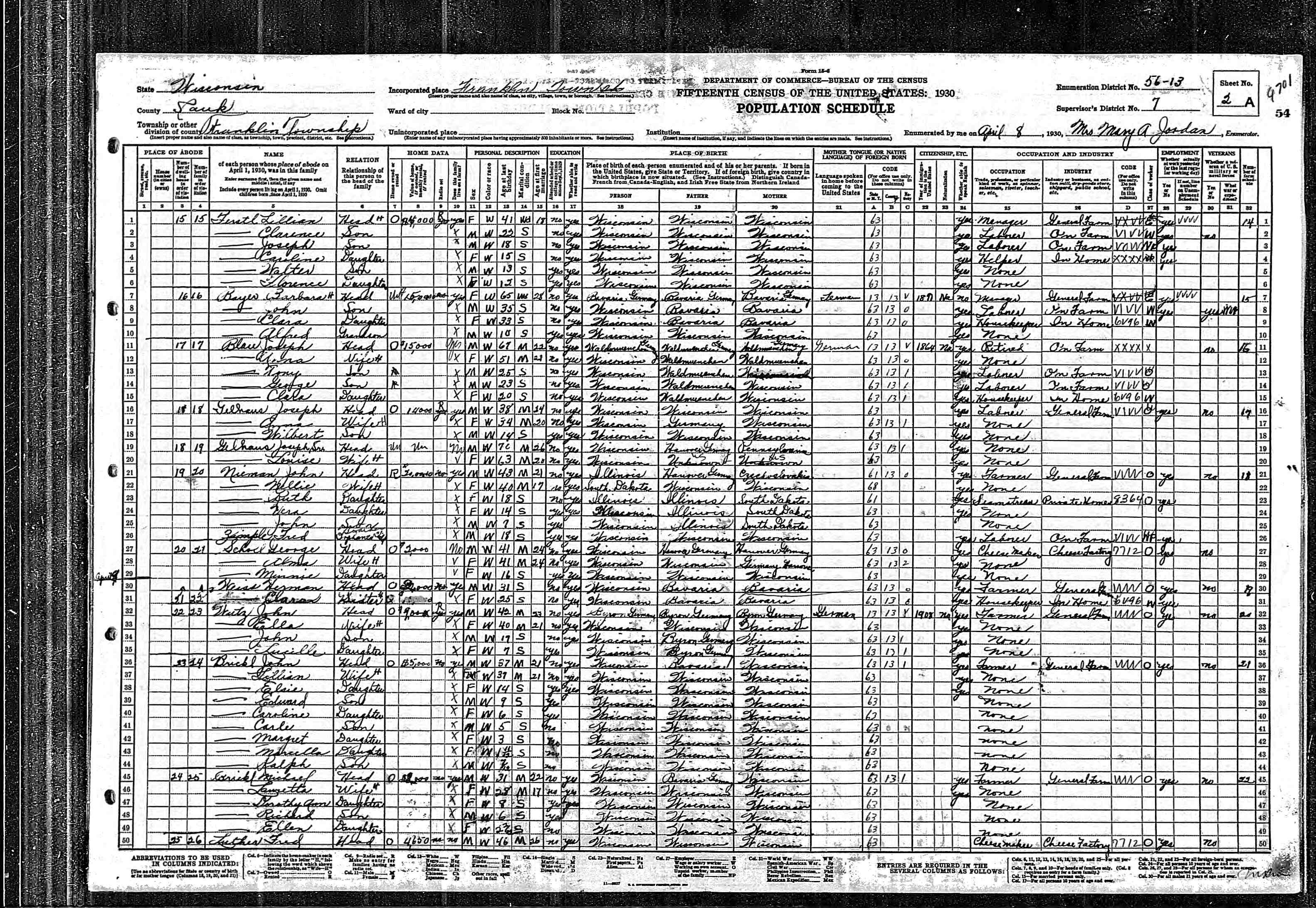 Friede-Abrahamson Genealogy Site - Person Page 1